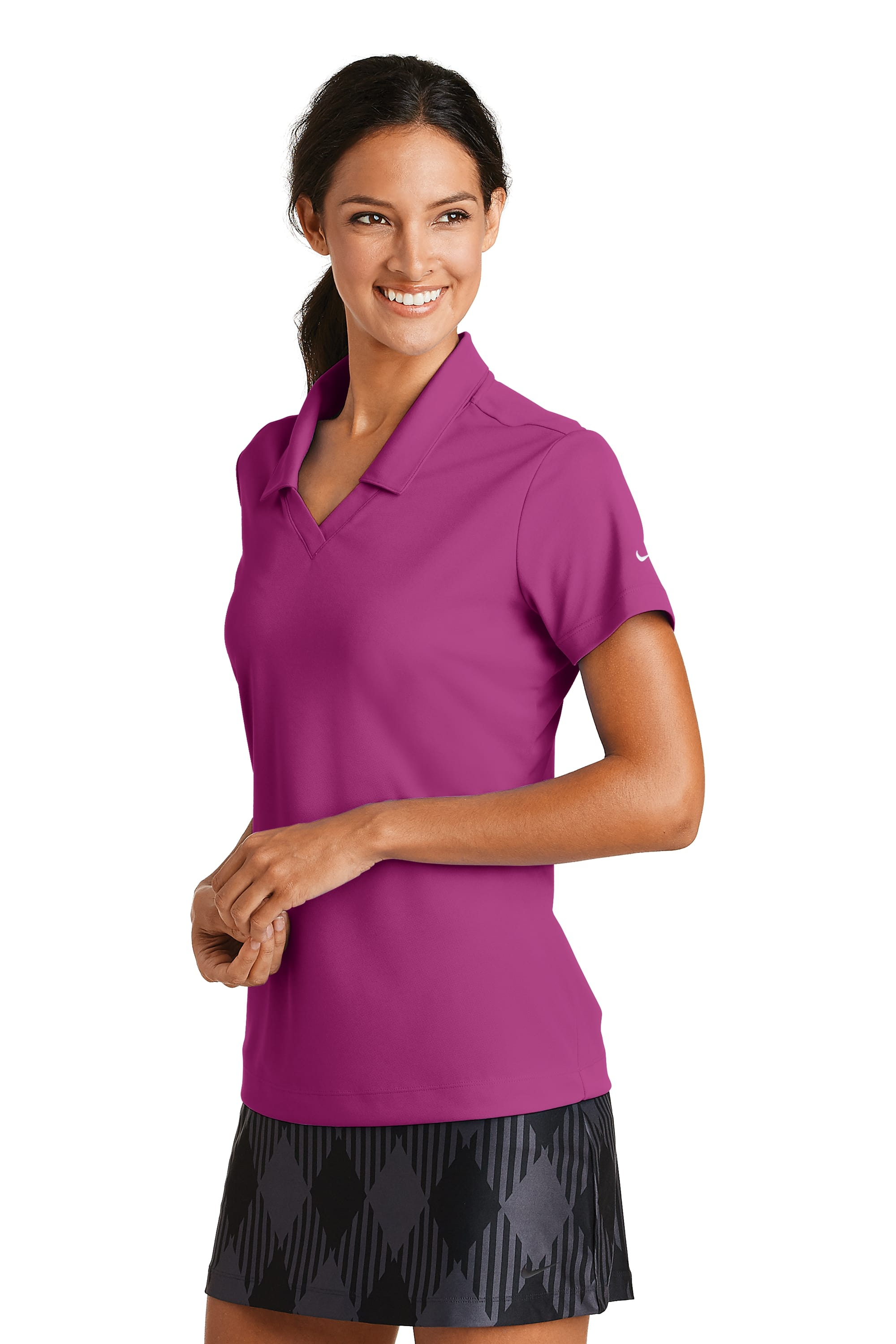 a0d65e09d 354067 Nike Ladies Dri-FIT Micro Pique Polo