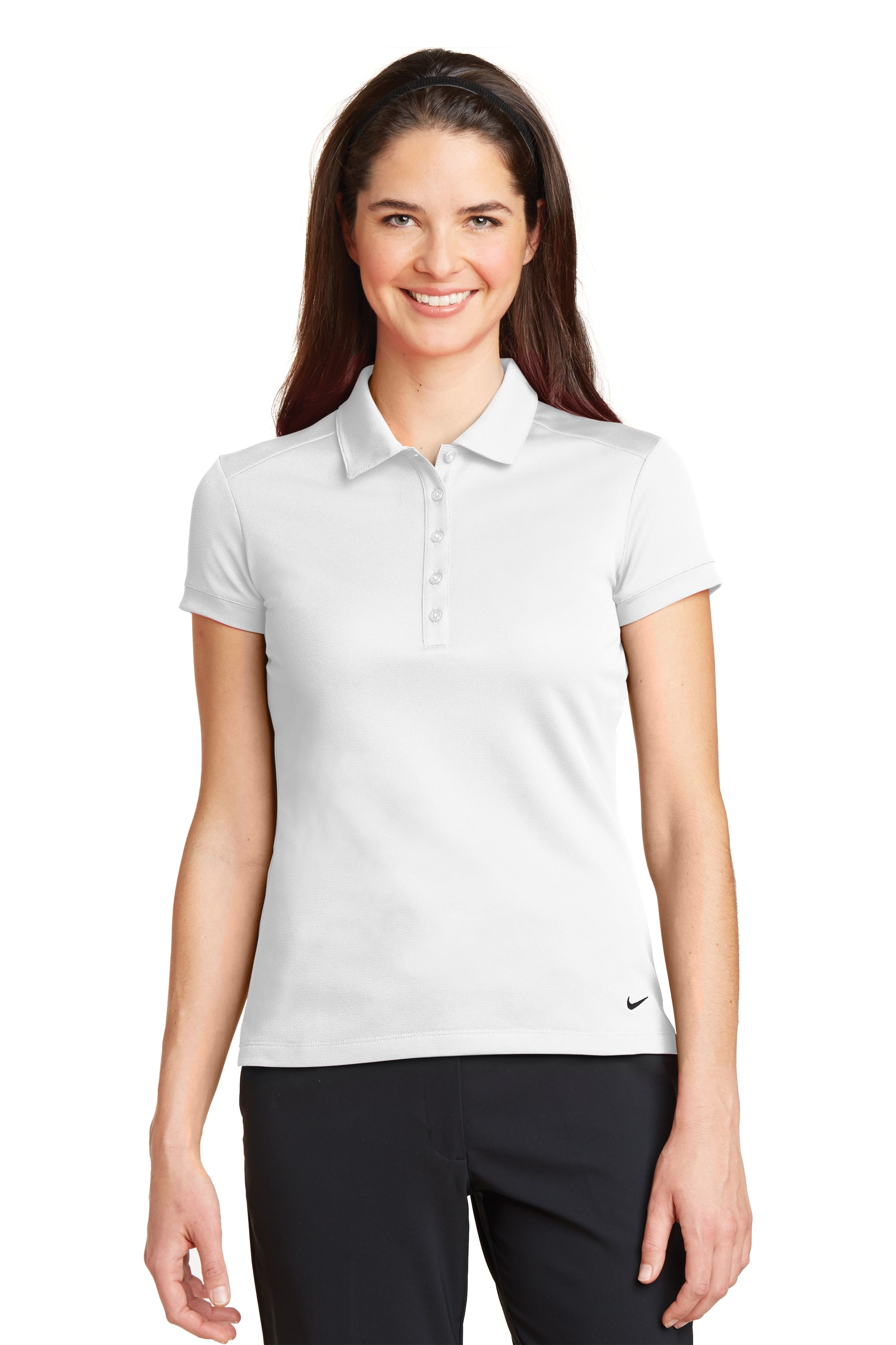 dca68818f 746100 Nike Ladies Dri-FIT Solid Icon Pique Modern Fit Polo