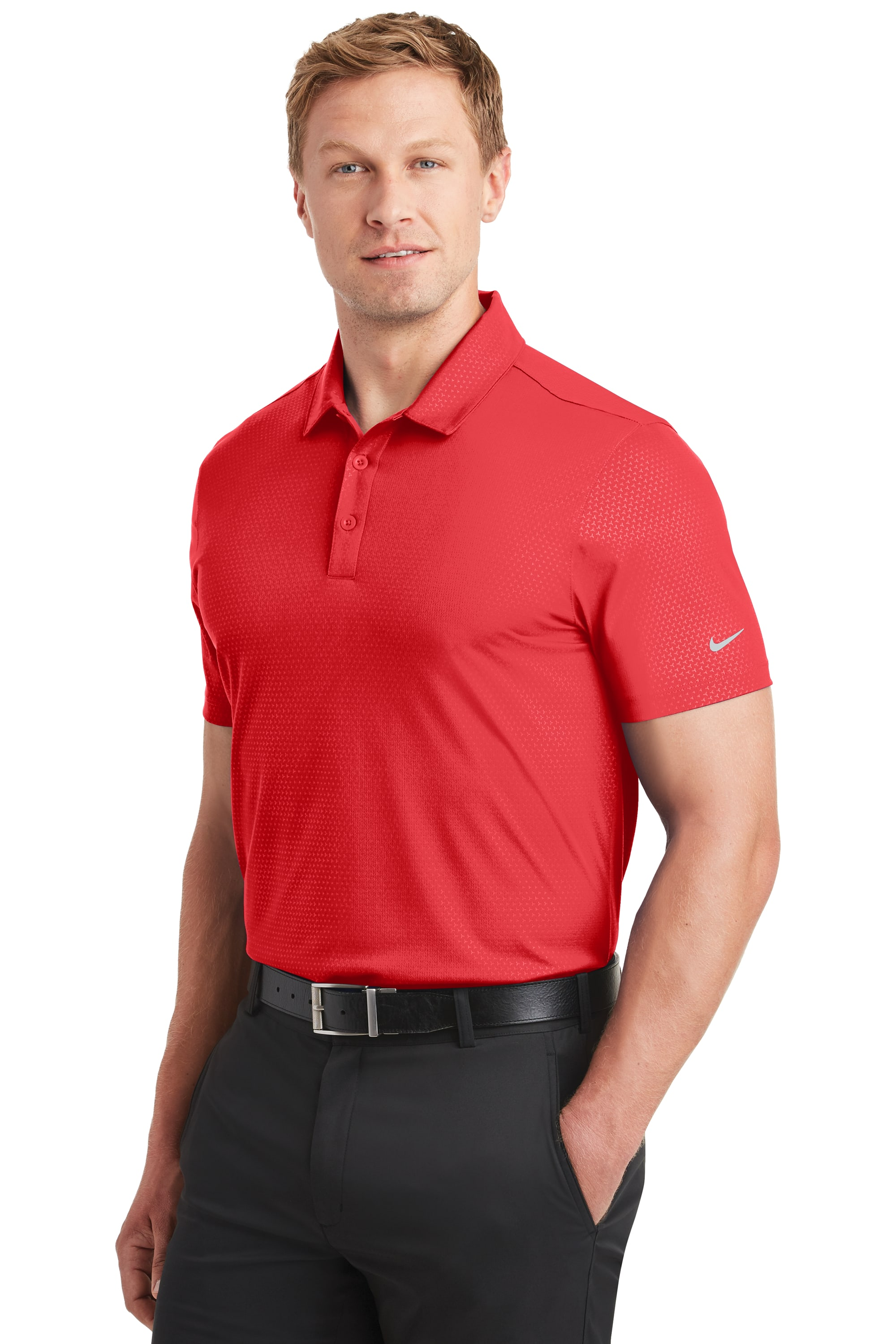 a8f730bc0113 Home   Product Catalog   Men   Polos   838964 Nike® Golf Dri-FIT Embossed  Tri-Blade Polo