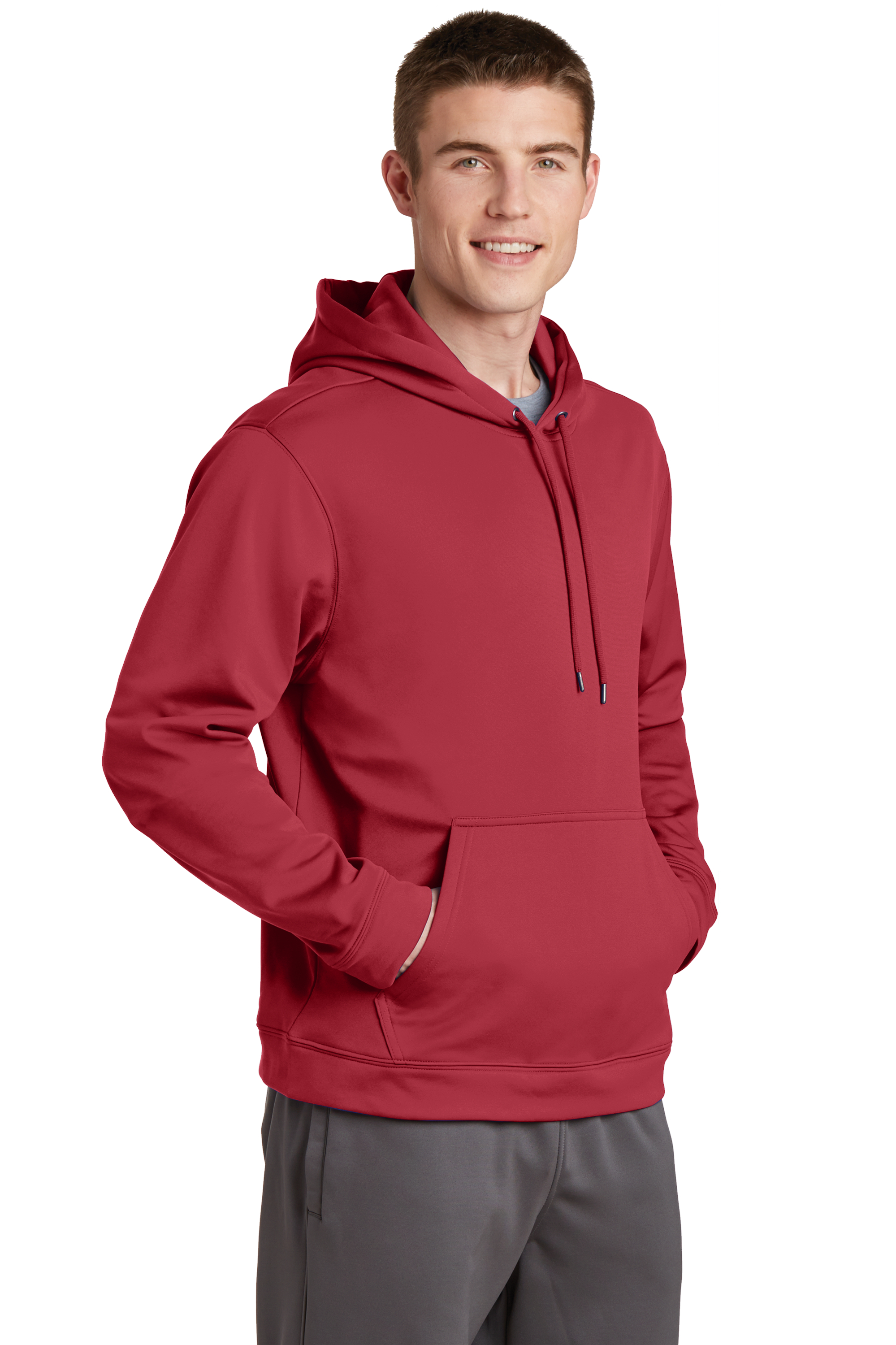 F244 Sport Tek Sport Wick Fleece Hooded Pullover To add a logo to the product; michael s uniform company