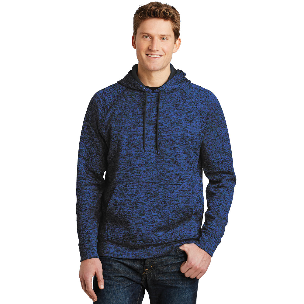 df2212e9795 ST225 Sport-Tek® PosiCharge® Electric Heather Fleece Hooded Pullover