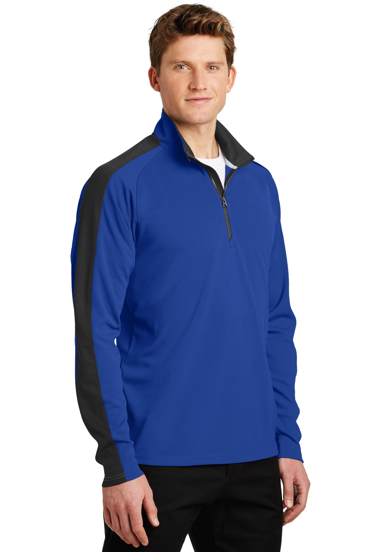 Sport-Tek Mens Sport Wick 1//4 Zip Fleece Pullover