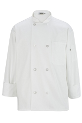 3300 Edwards 8 Button Long Sleeve Chef Coat