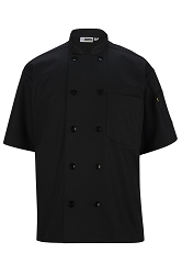3306 Edwards 10 Button Short Sleeve Chef Coat