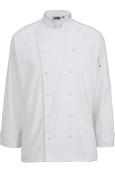 3318 Edwards 12 Cloth Button Classic Chef Coat