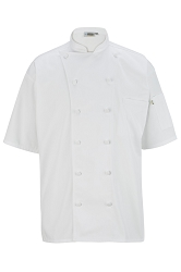 3331 Edwards 12 Button Short Sleeve Chef Coat with Mesh