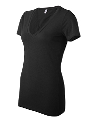 6035 Bella + Canvas Women's Deep V-Neck Jersey Tee