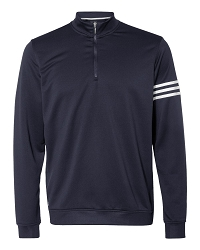 A190 Adidas ClimaLite 3-Stripes Quarter-Zip