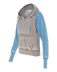 50728 J. America Women's Zen Fleece Raglan Hooded Sweatshirt