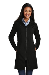 L306 Port Authority® Ladies Long Textured Hooded Soft Shell Jacket
