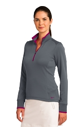 578674 Nike Ladies Dri-FIT 1/2-Zip Cover-Up