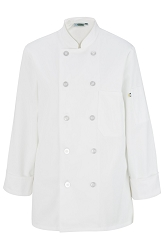 6301 Edwards Ladies 10 Button Long Sleeve Chef Coat