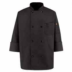 KT76 Red Kap Eight Pearl Button Chef Coat