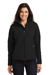 L705 Port Authority® Ladies Textured Soft Shell Jacket