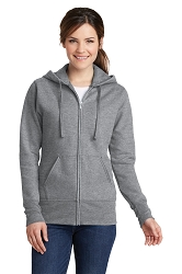 LPC78ZH  Port & Company® Ladies Core Fleece Full-Zip Hooded Sweatshirt