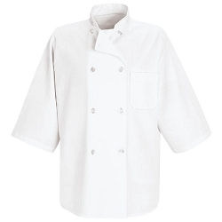 0404 Red Kap 1/2 Sleeve Chef Coat
