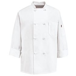 0414 Red Kap Eight Knot Button Chef Coat