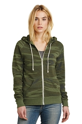 AA9573 Alternative Women's Adrian Eco Fleece Zip Hoodie