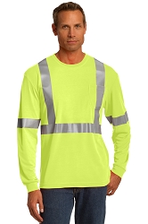 CS401LS CornerStone® ANSI 107 Class 2 Long Sleeve Safety T-Shirt