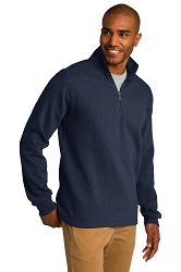 F295 Port Authority® Slub Fleece 1/4-Zip Pullover