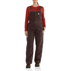 102743 Carhartt Women's Weathered Duck Wildwood Bib Overall