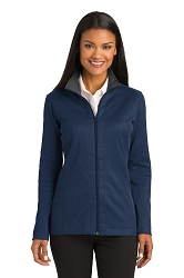 L805 Port Authority® Ladies Vertical Texture Full-Zip Jacket