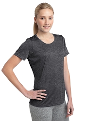 LST360 Sport-Tek® Ladies Heather Contender™ Scoop Neck Tee