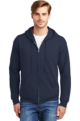 P180 Hanes® - EcoSmart® Full-Zip Hooded Sweatshirt