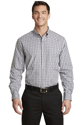 S654 Port Authority® Long Sleeve Gingham Easy Care Shirt