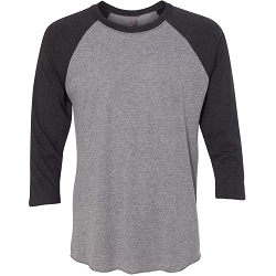 6051 Next Level Unisex Tri Blend Three-Quarter Sleeve Raglan Tee