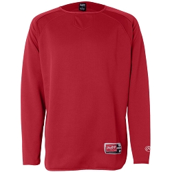 9705 Rawlings Long Sleeve Flatback Mesh Fleece Pullover