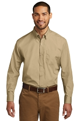 W100 Port Authority® Long Sleeve Carefree Poplin Shirt