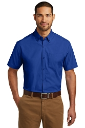 W101 Port Authority® Short Sleeve Carefree Poplin Shirt