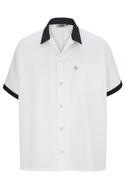 1304 Edwards Button Front Shirt with Trim