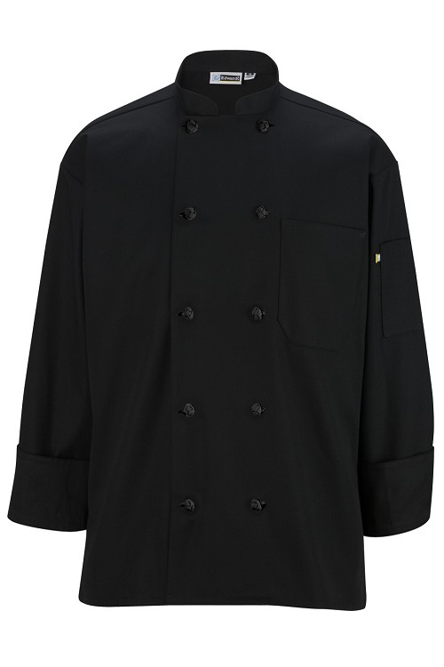 3302 Edwards 10 Knot Button Long Sleeve Chef Coat
