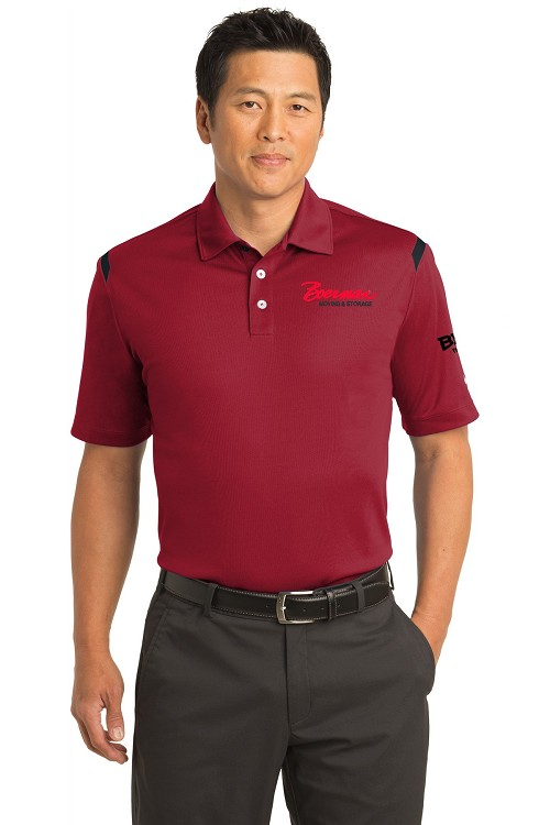 402394 Nike Red Stripe/Black Polo Shirt