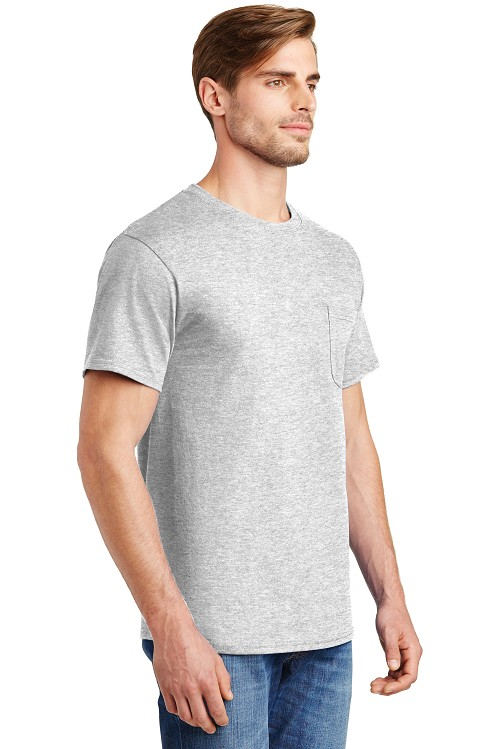 5590 Hanes® - Tagless® 100% Cotton T-Shirt with Pocket