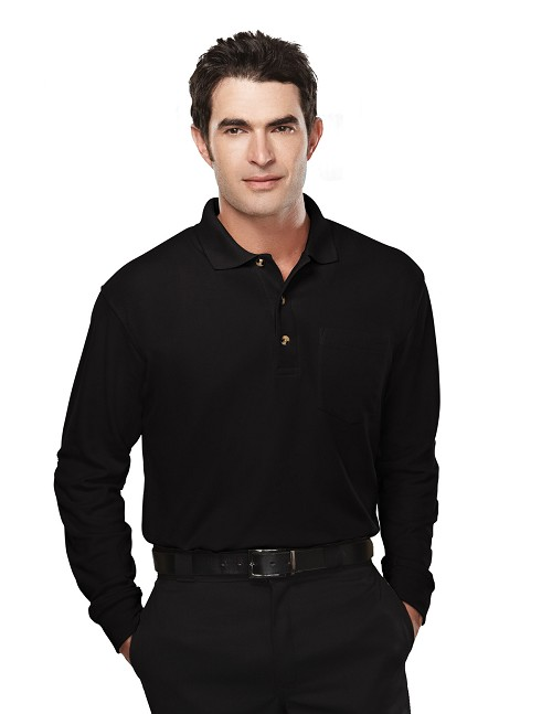 609 Tri-Mountain Spartan Long Sleeve Pocket Polo
