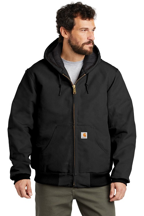 J140 Carhartt® Quilted-Flannel-Lined Duck Active Jacket
