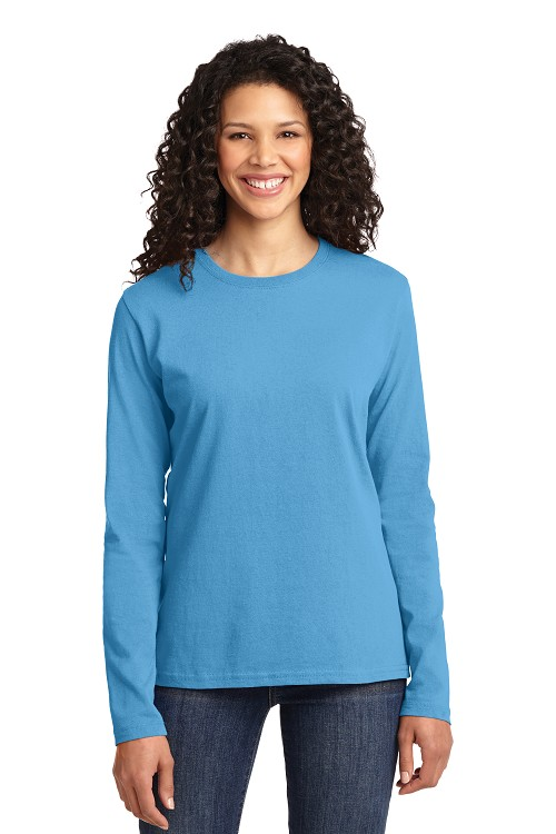LPC54LS Port & Company Ladies Long Sleeve Cotton T-Shirt